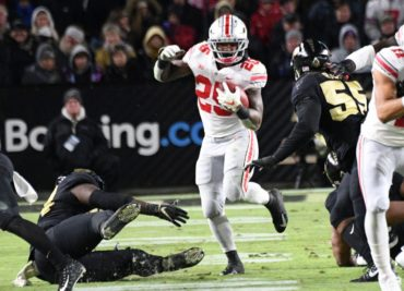 Ohio State football running back Mike Weber