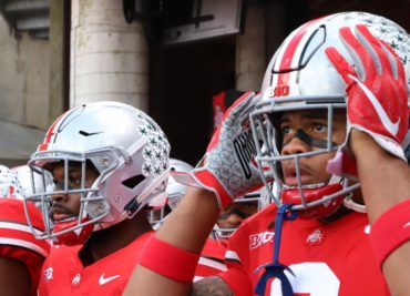 Ohio State football defensive end Chase Young linebacker Baron Browning