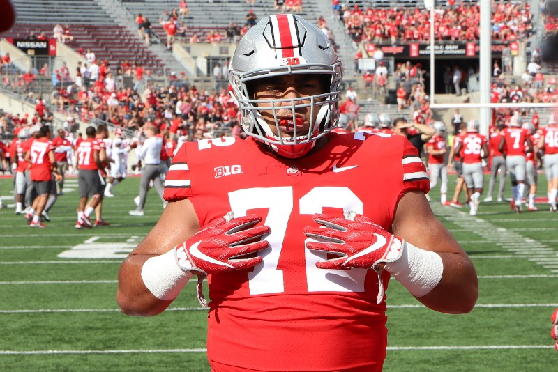 Ohio State football defensive tackle Tommy Togiai