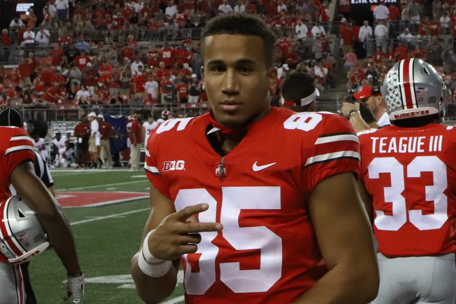 Ohio State football wide receiver L'Christian Blue Smith