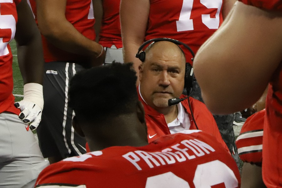 Ohio State football offensive line coach Greg Studrawa