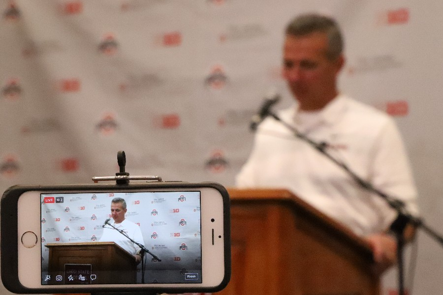 Ohio State football Urban Meyer press conference