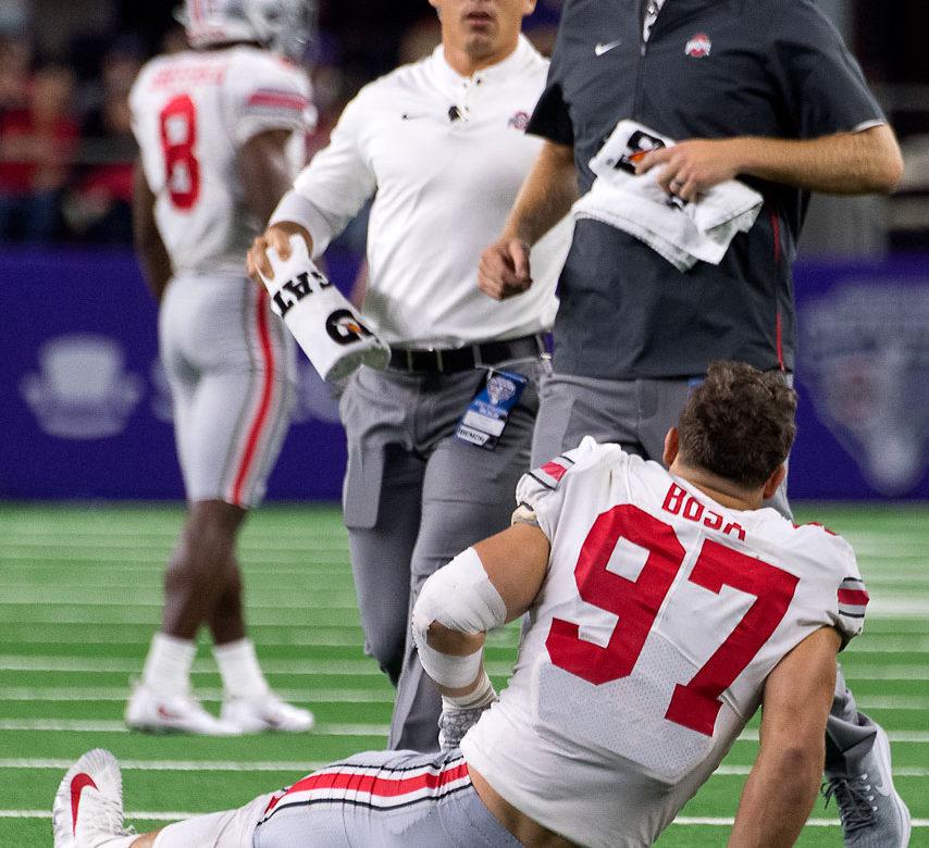 Ohio State defensive end Nick Bosa injury rehab