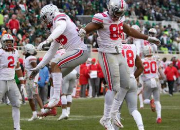 Ohio State football defensive tackle Dre'Mont Jones touchdown MSU