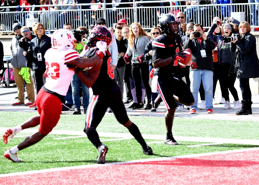 Ohio State football wide receiver Johnnie Dixon Terry McLaurin blocking