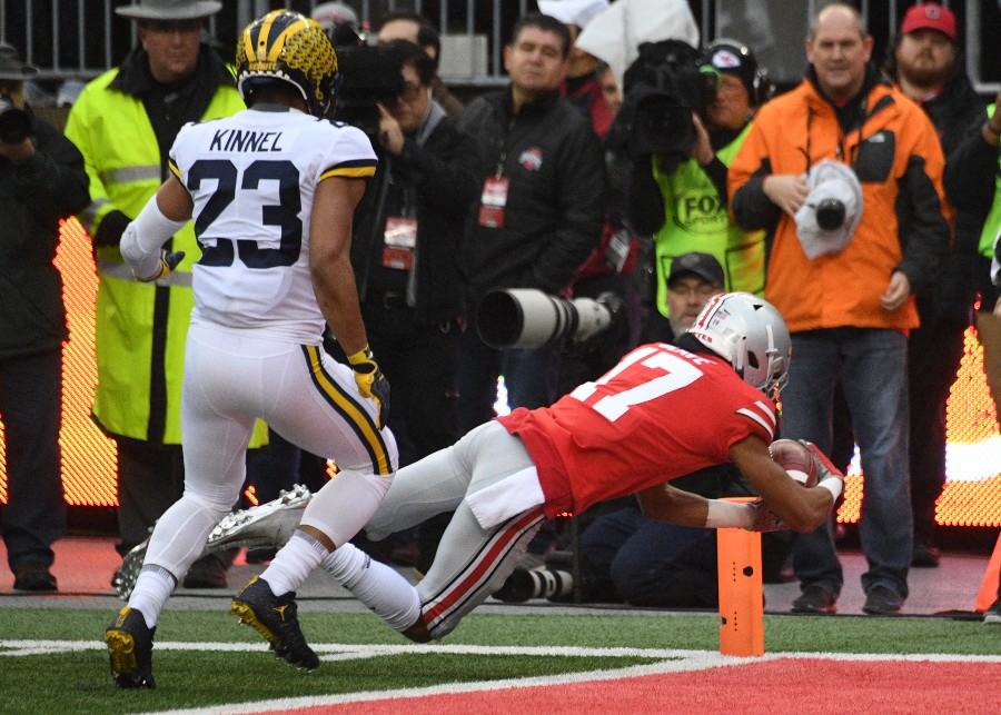 Ohio State wide receiver Chris Olave 2018 Michigan