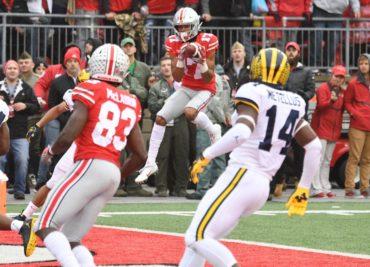 Ohio State wide receiver Chris Olave touchdown Michigan