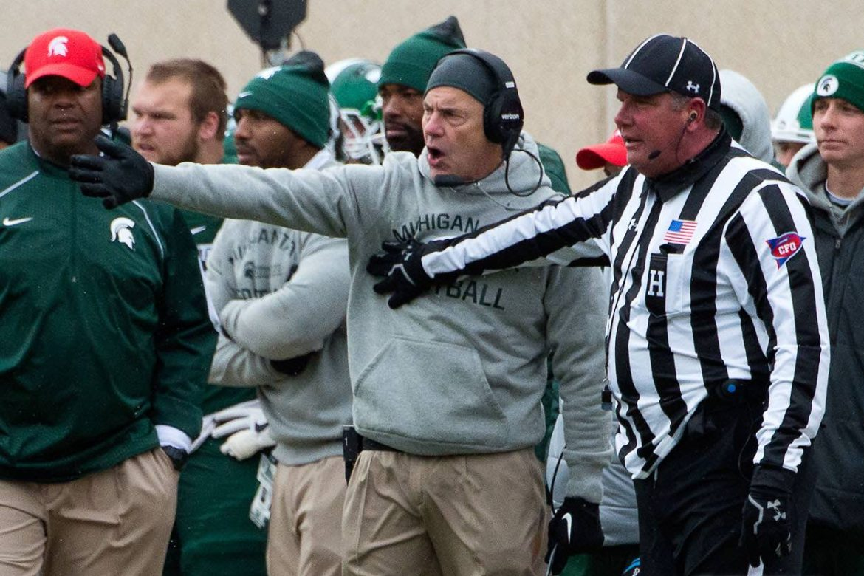 Michigan State football head coach Mark Dantonio
