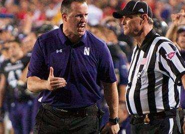 Northwestern head coach Pat Fitzgerald 2013