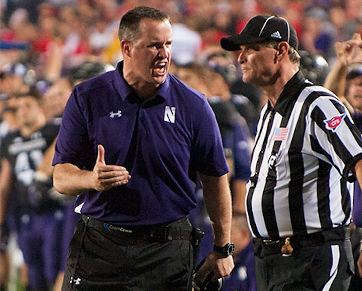 Northwestern head coach Pat Fitzgerald 2013