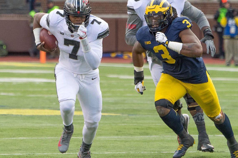 Ohio State football Michigan 2017 Dwayne Haskins