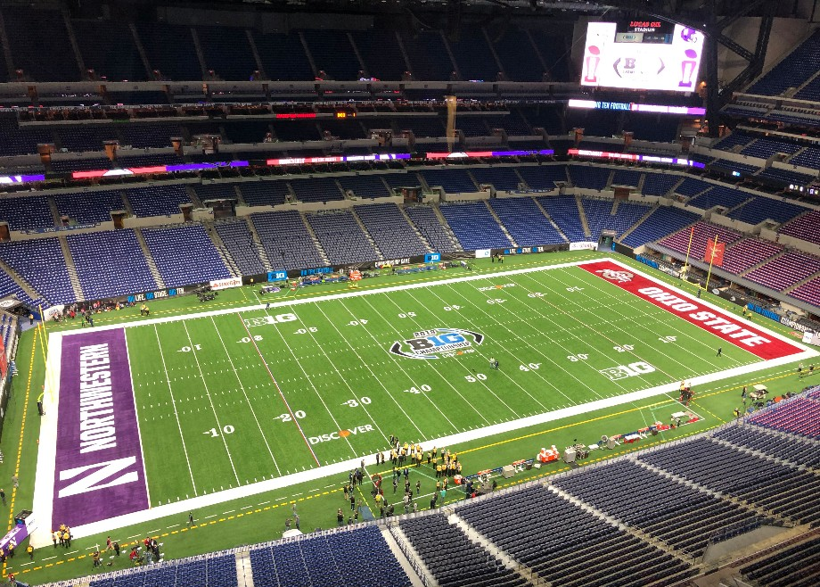 Big Ten Championship Game - Review of Lucas Oil Stadium ...