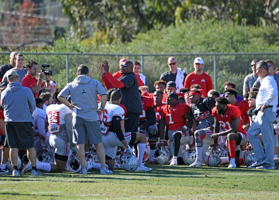 Ohio State football practice Larry Johnson