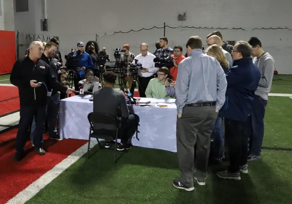 Ohio State football interviews Justin Fields