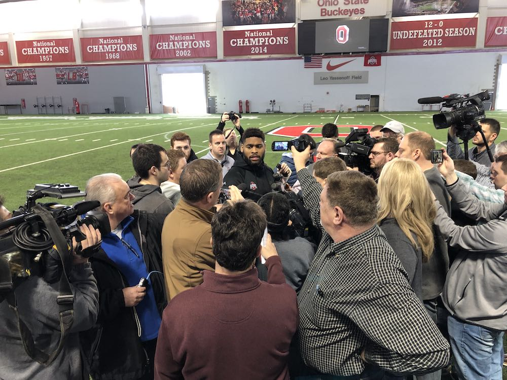 Ohio State Buckeyes football interviews