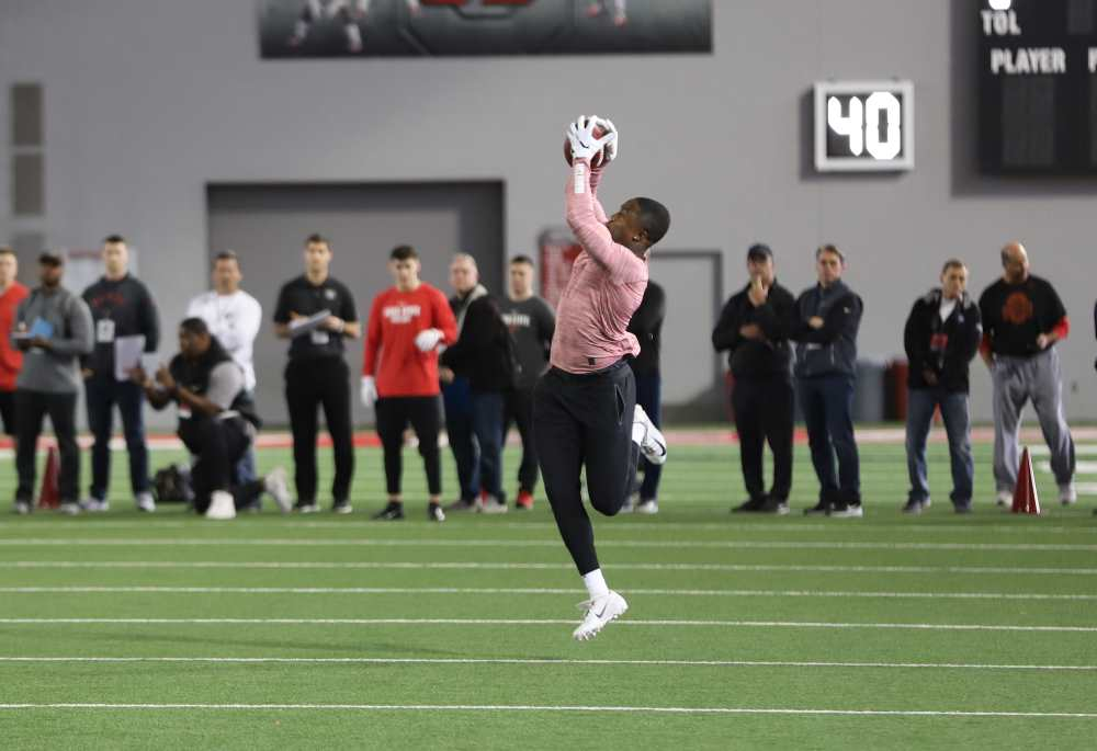 Terry McLaurin Ohio State Buckeyes Pro Day