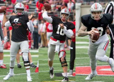 2018 Ohio State Spring Game Buckeyes football Dwayne Haskins Joey Burrow Tate Martell
