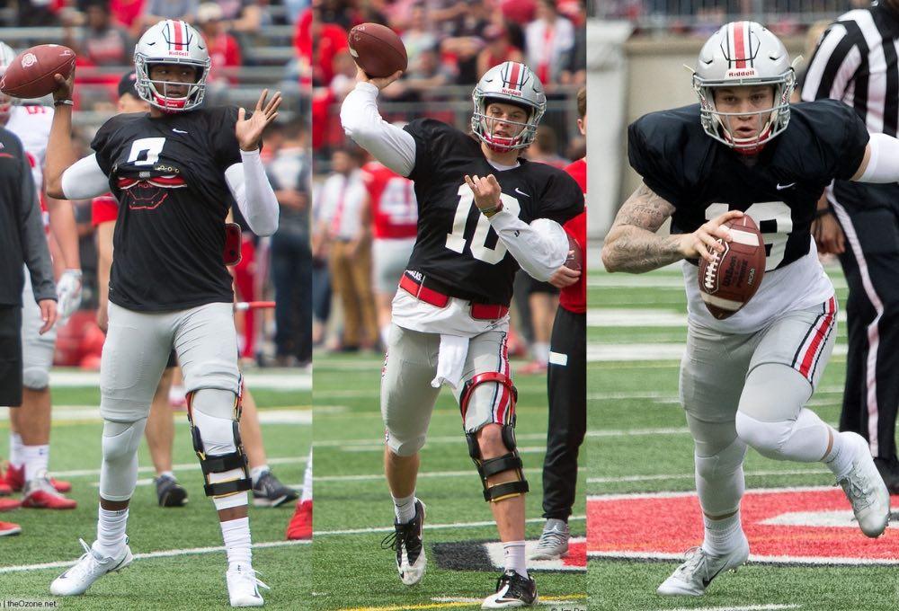 2018 Ohio State Spring Game Buckeyes football Dwayne Haskins Joey Burrow Tate Martell