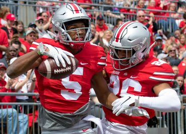 Garrett Wilson and Jaelen Gill Ohio State Football Buckeyes