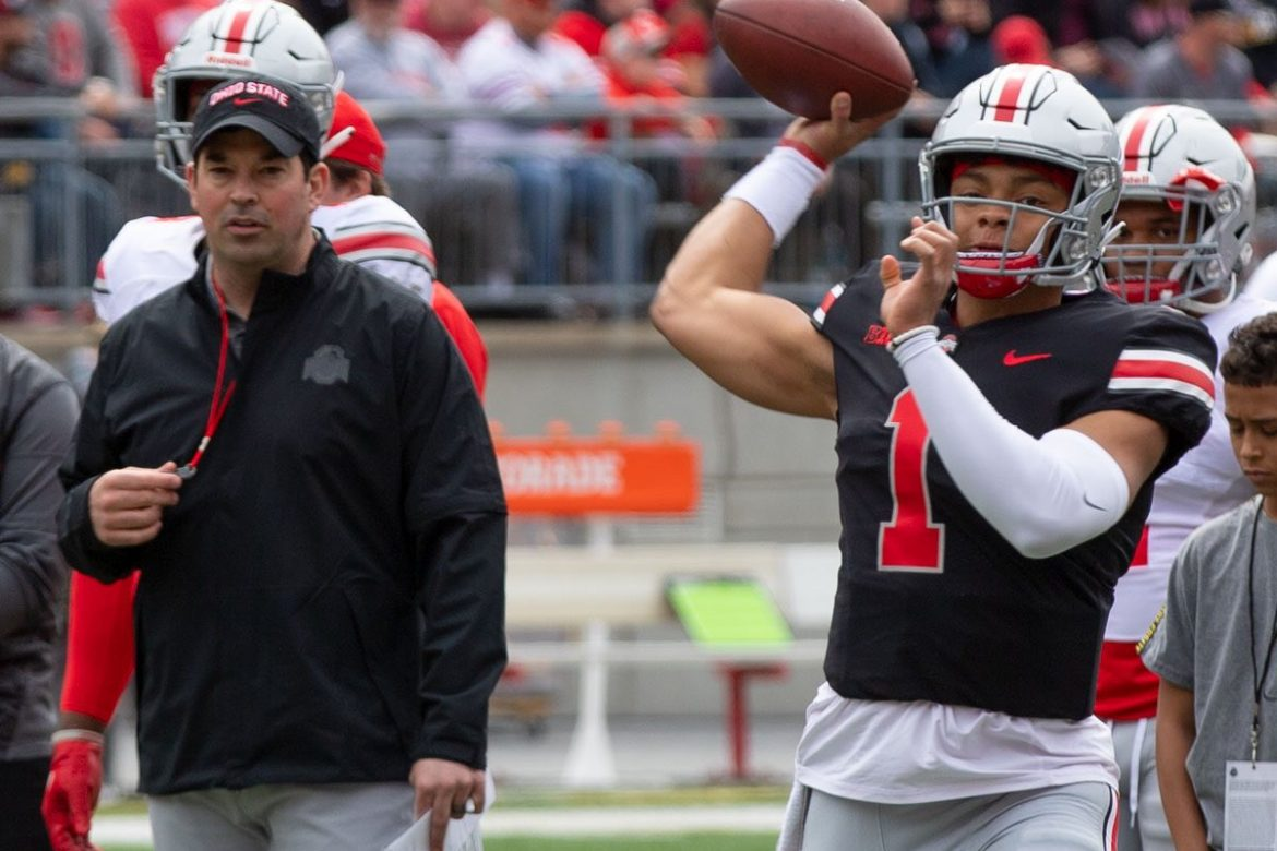 Justin Fields Ohio State Football Buckeyes Ryan Day