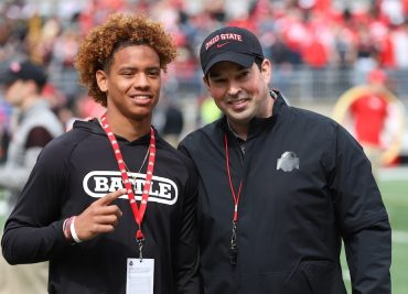 Ohio State football recruiting LV Bunkley-Shelton Ryan Day Spring Game