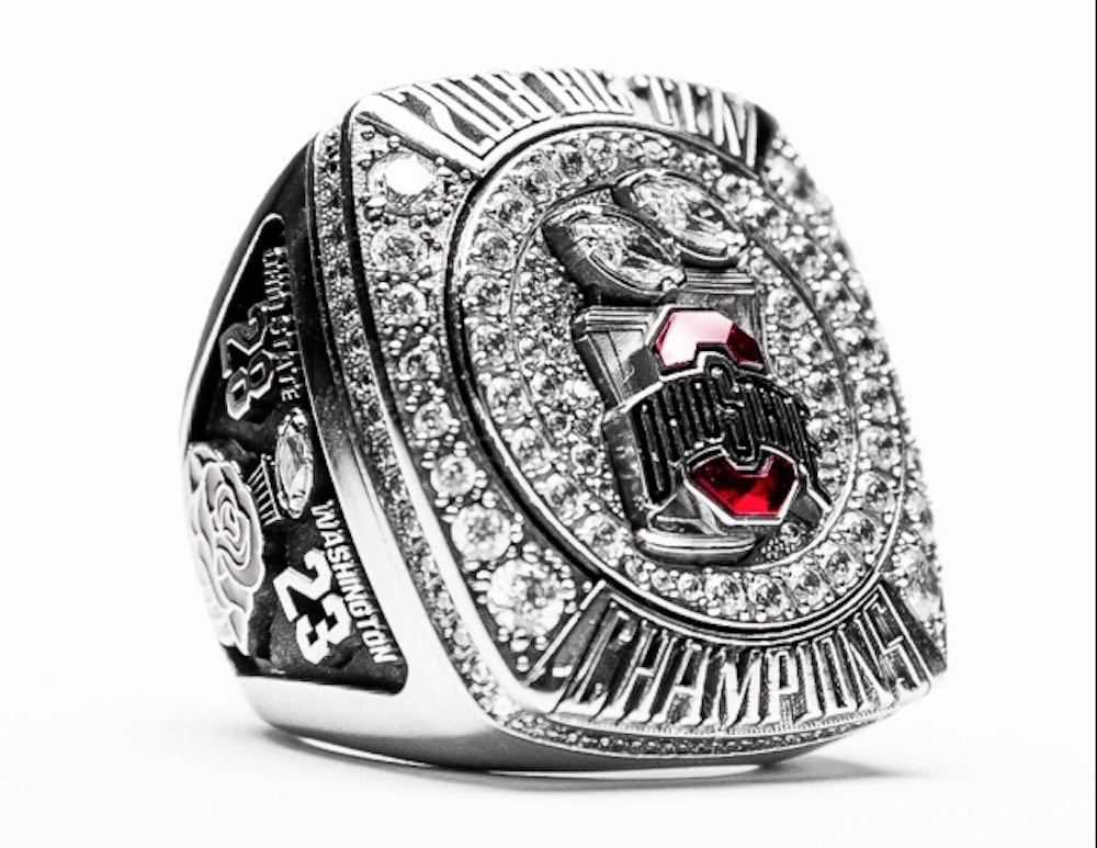 Ohio State Buckeyes football championship Rose Bowl Rings