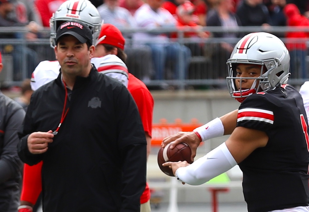 Ryan Day, Justin Fields Ohio State Football Buckeyes