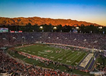 Ohio State Buckeyes football Rose Bowl sunset