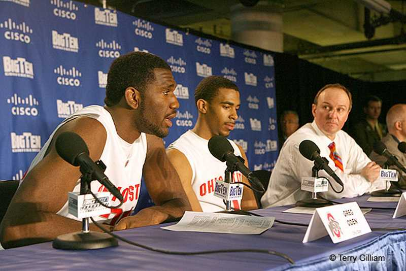 Greg Oden Mike Conley Thad Matta Ohio State Basketball Buckeyes