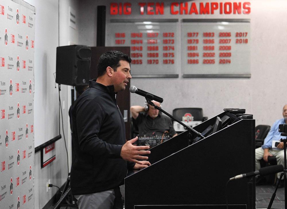 Ohio State football head coach Ryan Day