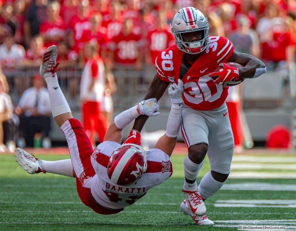 Demario McCall Ohio State Football Buckeyes Running Back