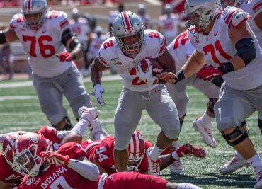 JK Dobbins Ohio State Buckeyes Running Back Offensive Line