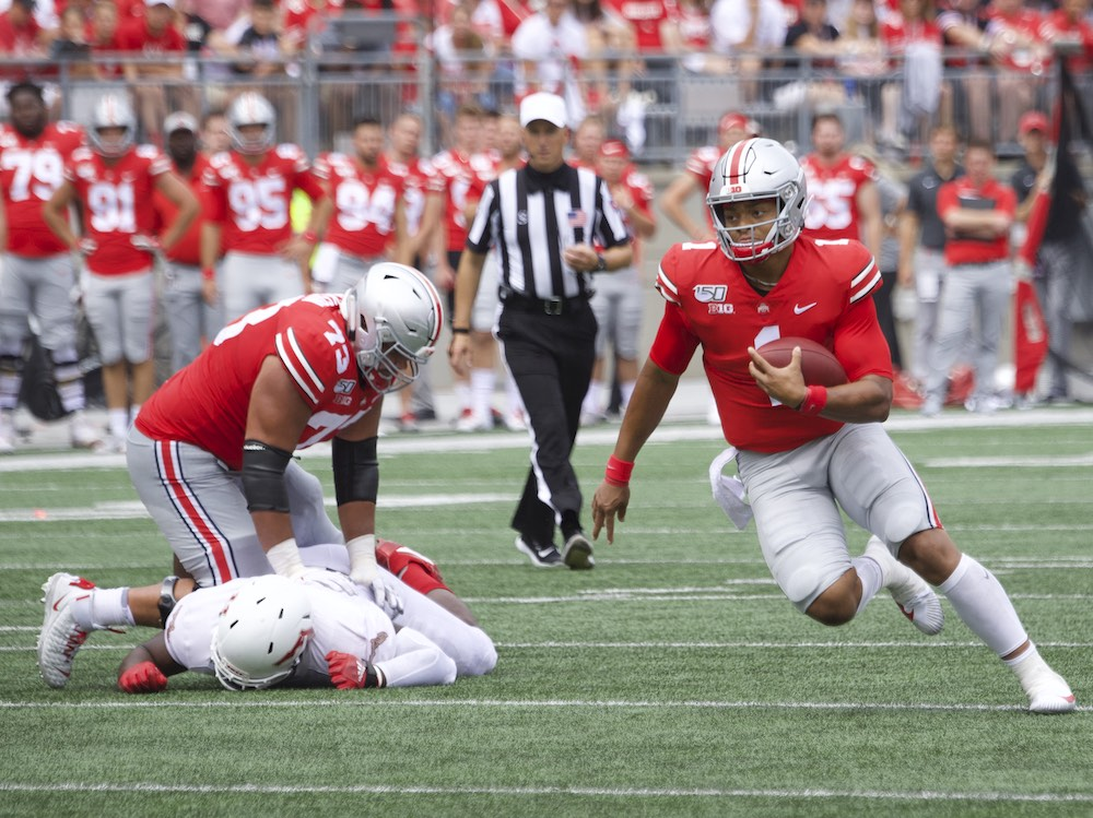 Ohio State football Jonah Jackson Justin Fields