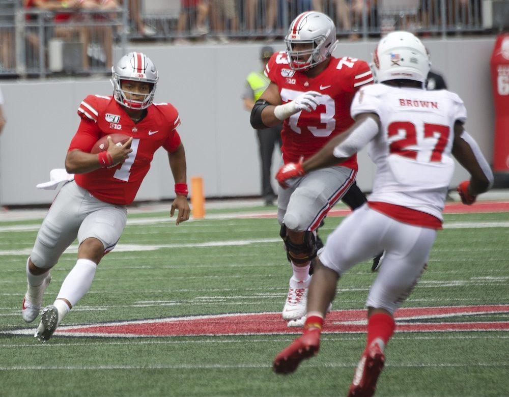 Ohio State football Justin Fields Jonah Jackson