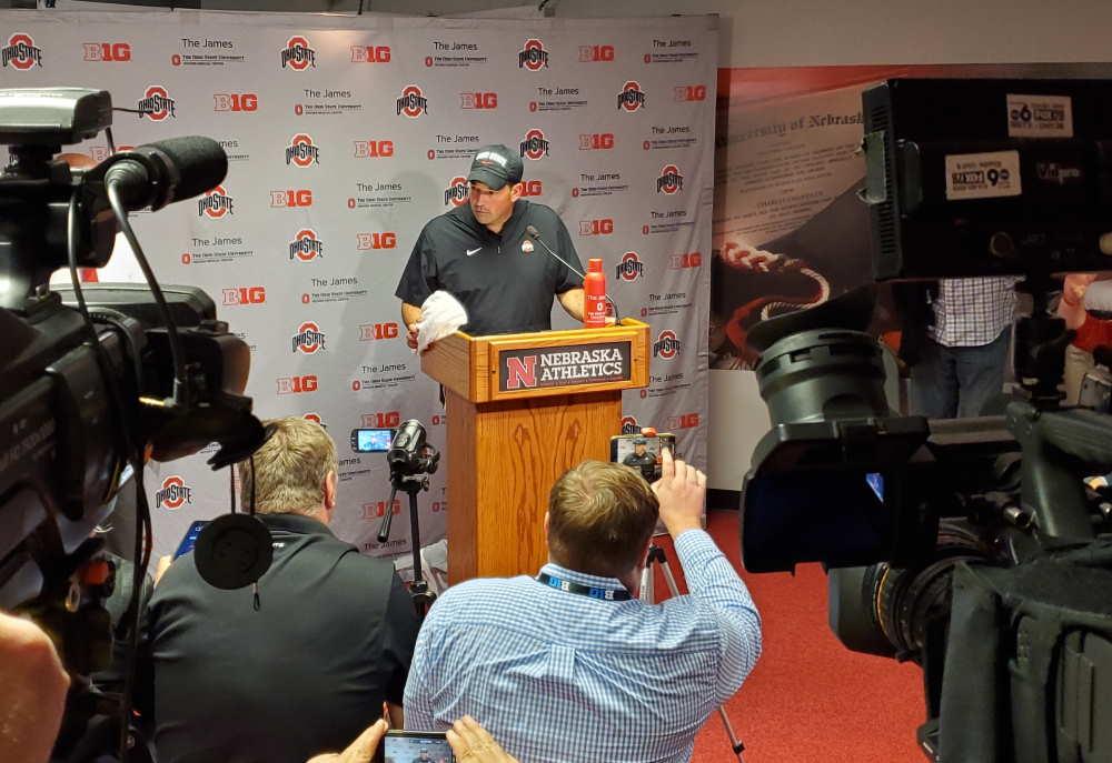 Ryan Day Ohio State Buckeyes Nebraska Postgame