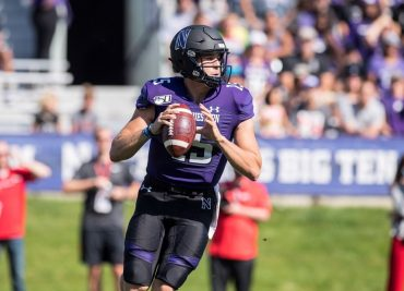 Northwestern quarterback Hunter Johnson