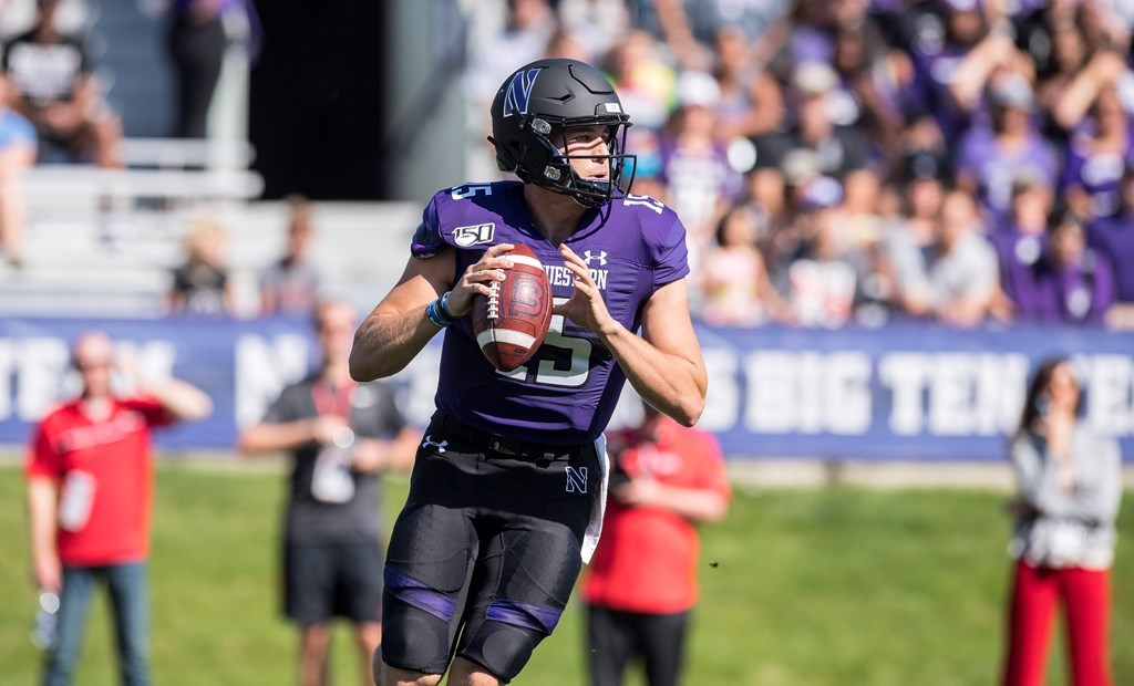 Northwestern quarterback Hunter Johnson