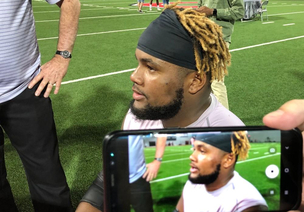 Ohio State football Wyatt Davis interview