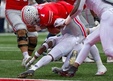 Justin Fields Ohio State Buckeyes Fumble