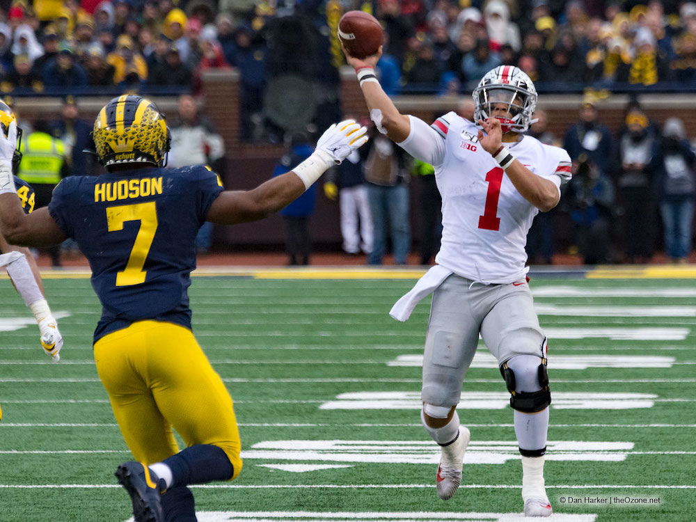 Ohio State quarterback Justin Fields Michigan