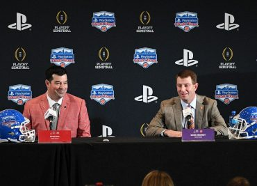 Ohio State head coach Ryan Day Clemson head coach Dabo Swinney