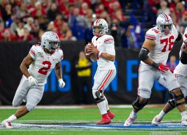 Ohio State quarterback Justin Fields