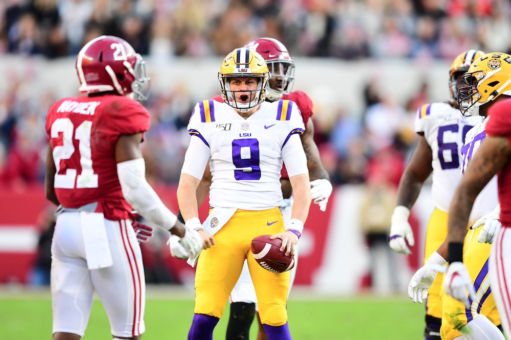 SEC football schedule Joe Burrow LSU vs Alabama