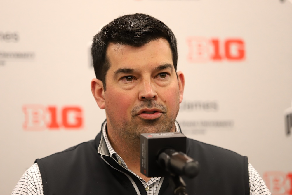Ohio State football head coach Ryan Day