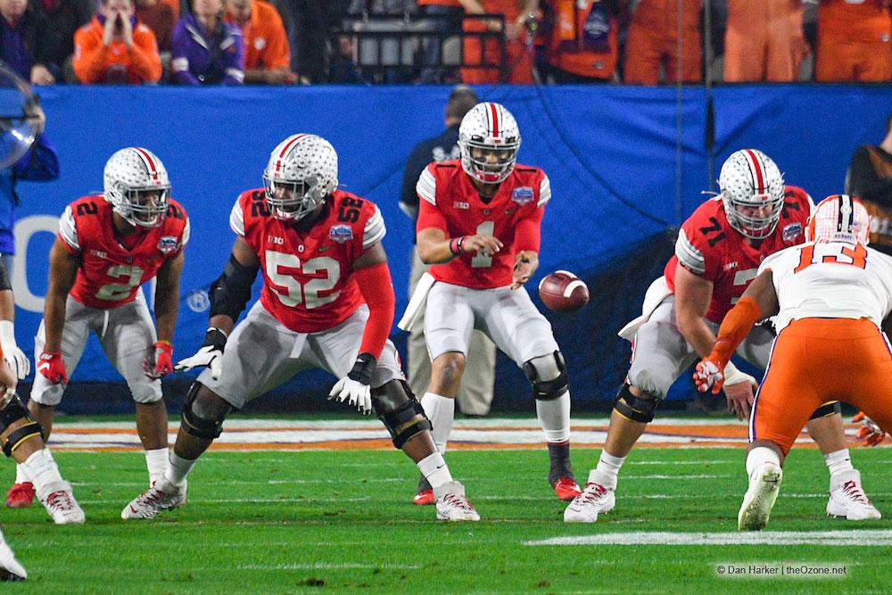 Wyatt Davis, Josh Myers, Justin Fields Ohio State Football Buckeyes