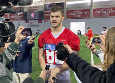 Ohio State spring football Jeremy Ruckert interview