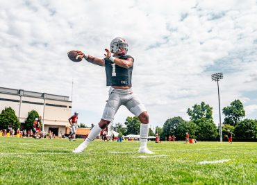 Ohio State football practice Justin Fields