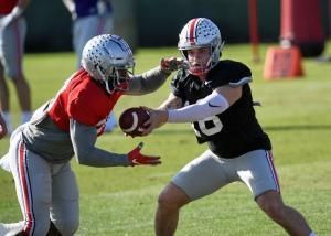 Ohio State quarterback Tate Martell