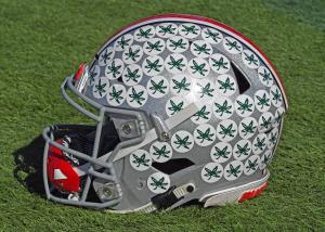 Ohio State football helmet Buckeye leaves