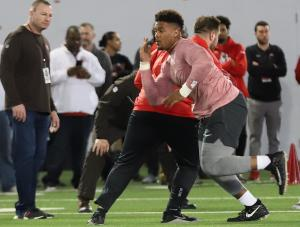 DreMont Jones Ohio State football 2019 Pro Day